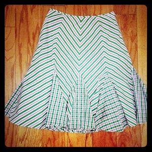Ralph Lauren Pleated A Line Skirt